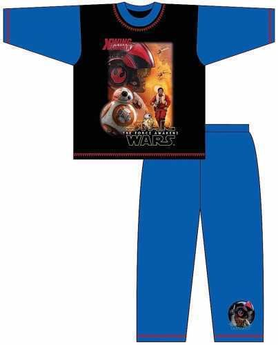 Boys Official Star Wars X-Wing Fighter & BB8 Character Pyjama Set Night Wear